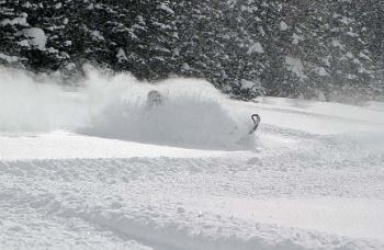 Waist-deep powder