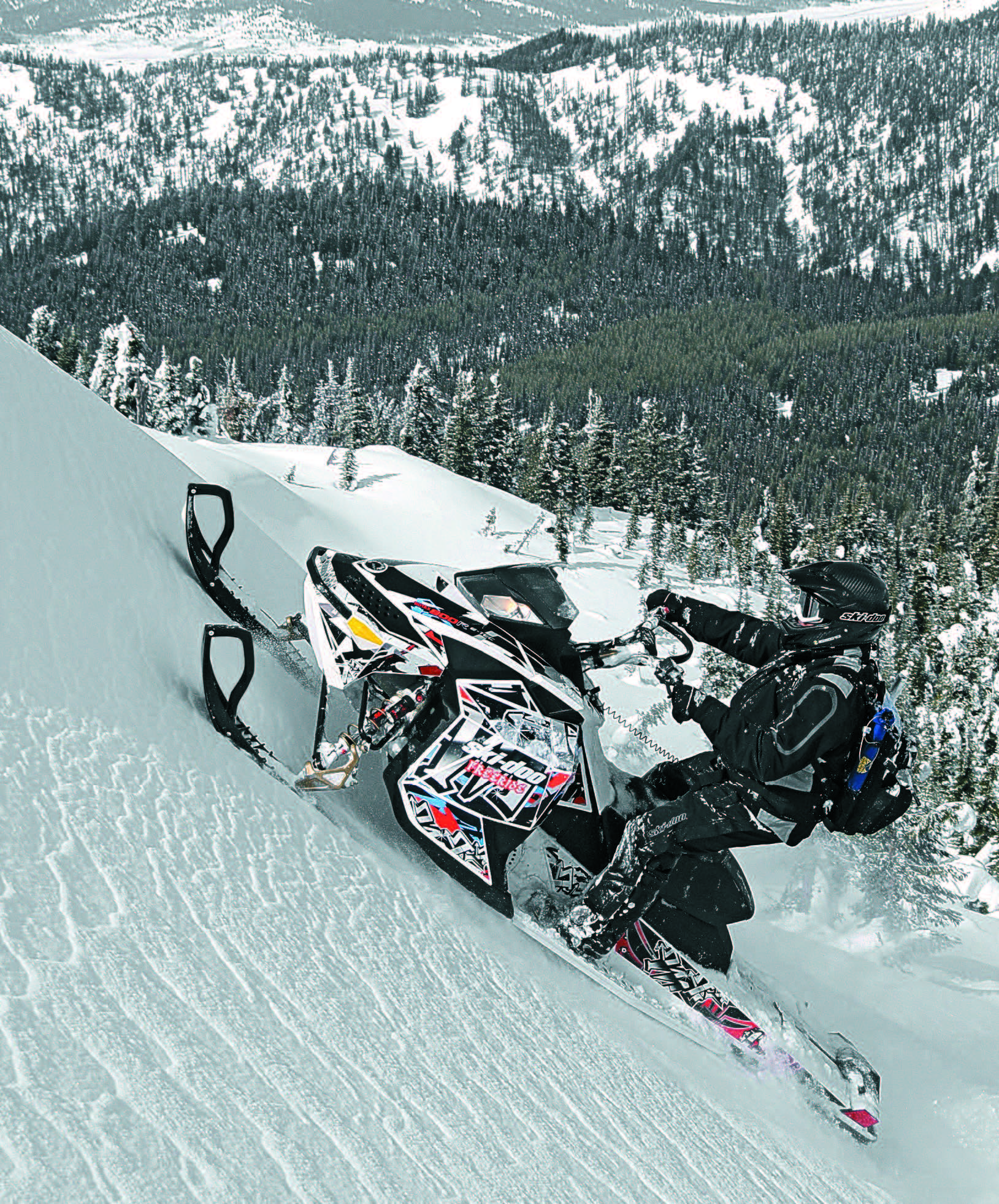 Sledheads Backcountry Riding Instruction Manual Snowest Magazine - This is what happens when you fly a snowmobile off a cliff