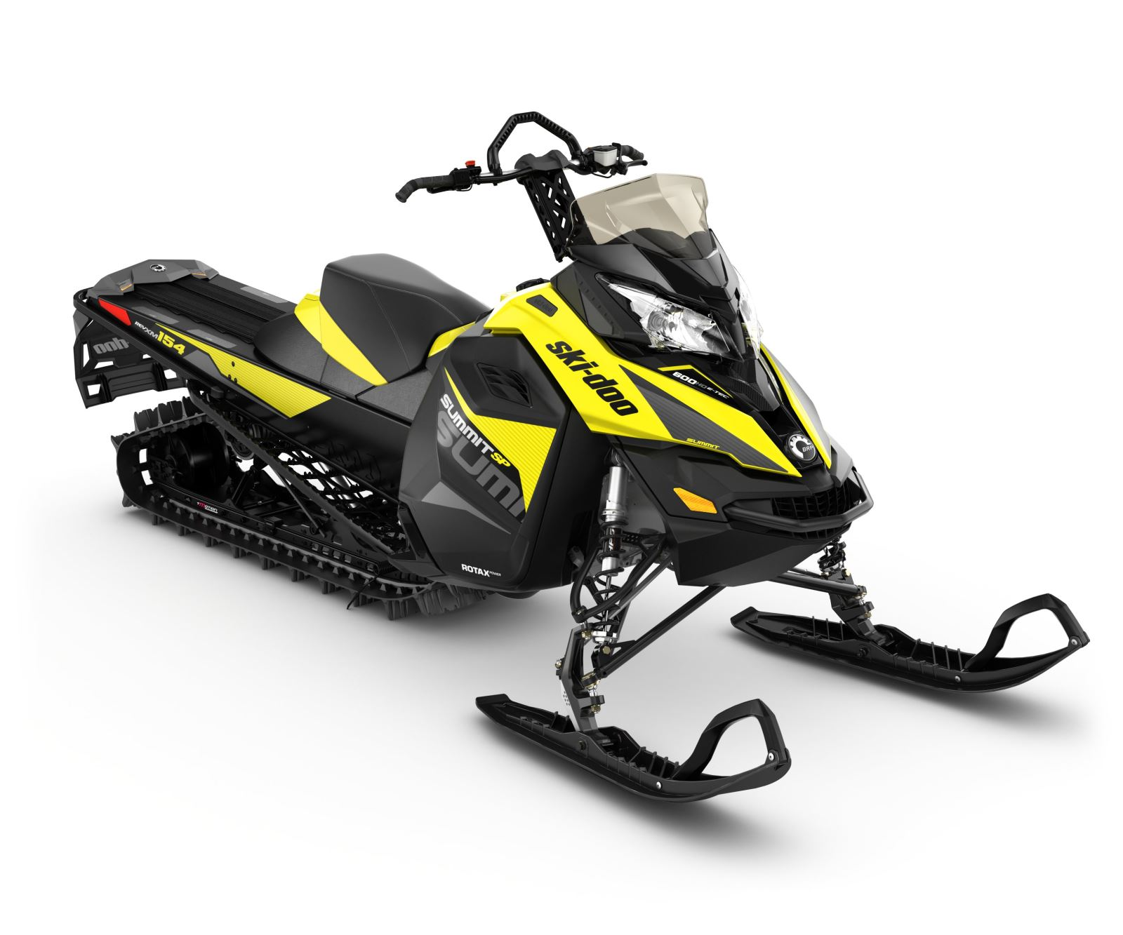 Updates to the 2017 Ski-Doo Summit SP 600 HO include bold new graphics ...