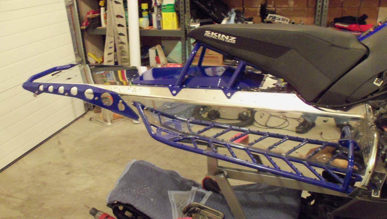 Install skinz protective gear mtx rear bumper yamaha for Yamaha nytro tunnel