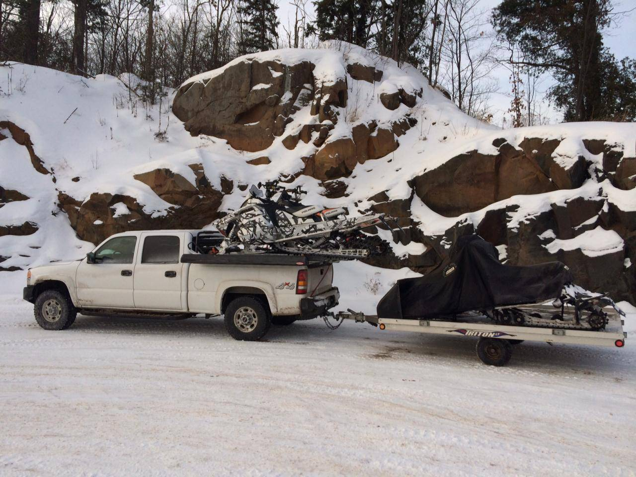 sled deck and towing enclosed trailer - snowest snowmobile forum