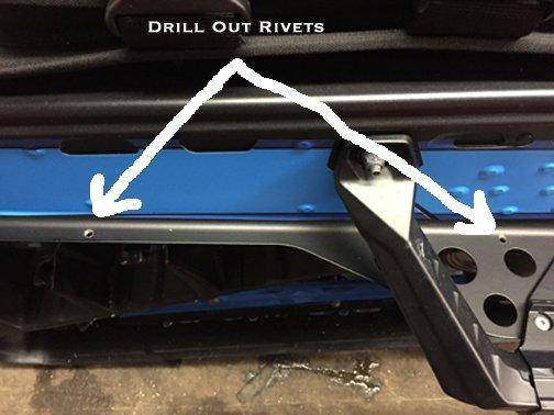 b m fabrications rear bumper install how to snowest snowmobile forum. Black Bedroom Furniture Sets. Home Design Ideas