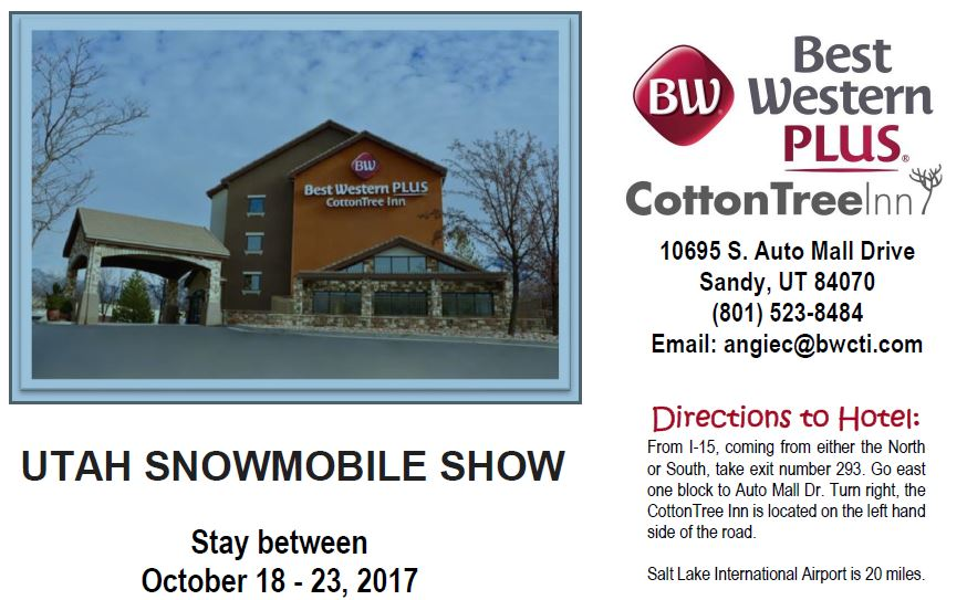 Best Western Utah Snow Show Special Rates